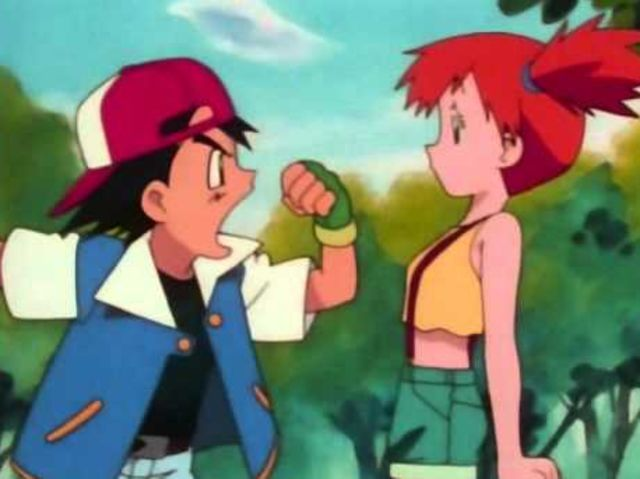 What did Ash borrow from Misty in the first episode?