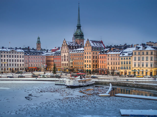 Gamla Stan is one of the most beautiful and traditional districts in Stockholm, Sweden.