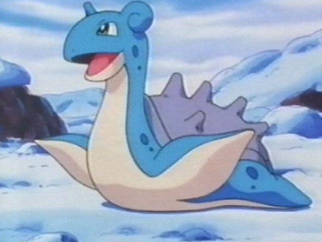Lapras is also an ice-type Pokemon!