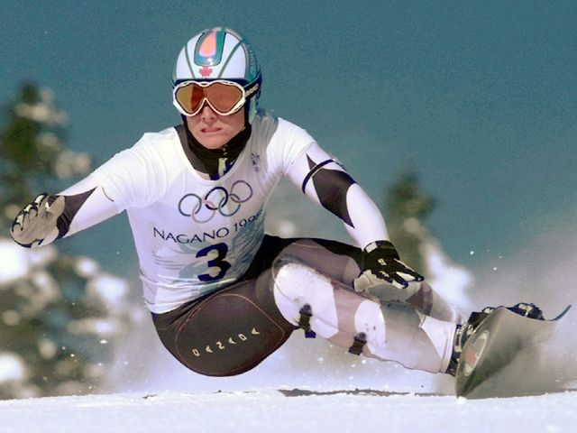Ross Rebagliati raced his way to gold in the inaugural Olympic snowboard (giant slalom) competition at Nagano 1998.