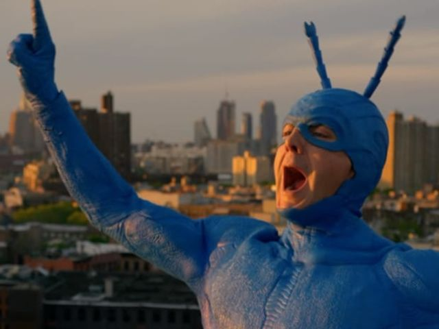 "The Tick has super strength, nigh invulnerability, super mass, and ""drama power,"" which means that the more dramatic a situation gets, the more power he has."