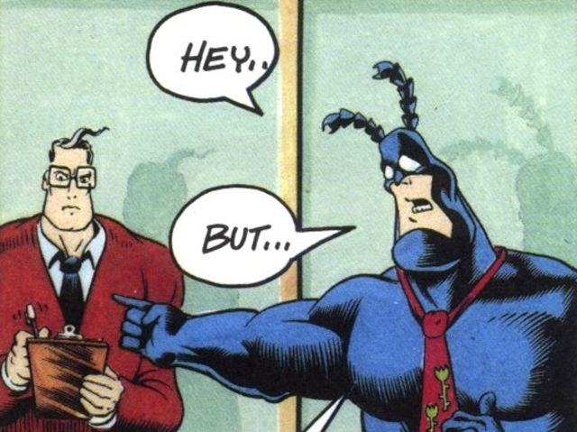 In the comics, where does The Tick work?