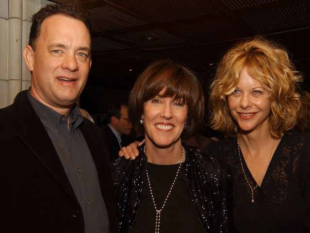 Tom Hanks and Meg Ryan, seen here with Nora Ephron in 2012, got together (again) in You've Got Mail.