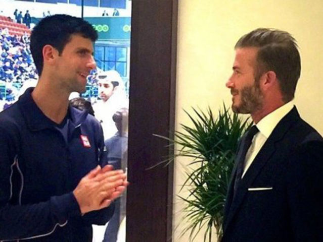 Djokovic once admitted via his Instagram page that he mistook David Beckham for Robbie Williams.