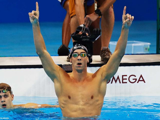 It's Olympic swimmer Michael Phelps!