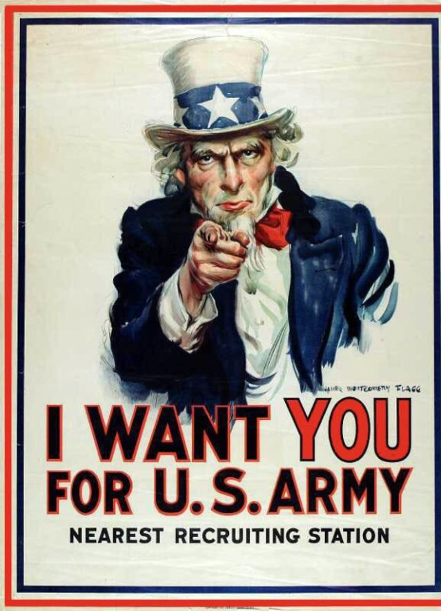 What do you think when you see this World War II recruitment poster?