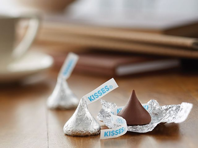 These are Hershey's kisses! What else could the iconic little chocolate drops be?