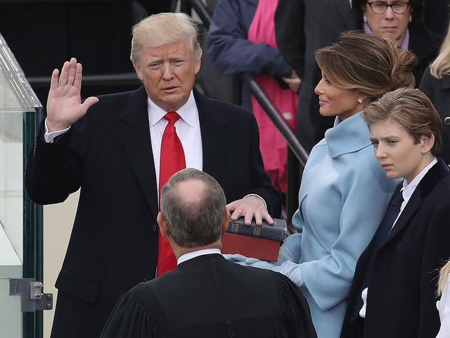 Donald Trump has sworn in as the 45th President of the United States.