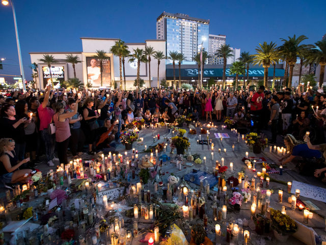 Fifty-eight people are killed and 546 injured when Stephen Paddock opens fire on a crowd in Las Vegas.