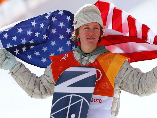 Red was the first gold medalist to: