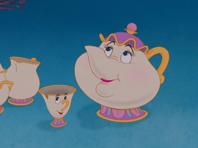 What movie does Mrs. Potts and Chip make an appearance?