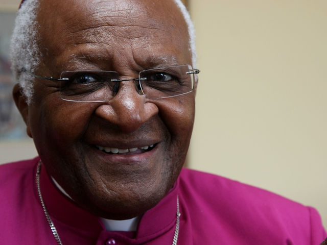 It's anti-apartheid activist Desmond Tutu!