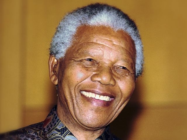 It's Nelson Mandela, the South African anti-apartheid revolutionary.