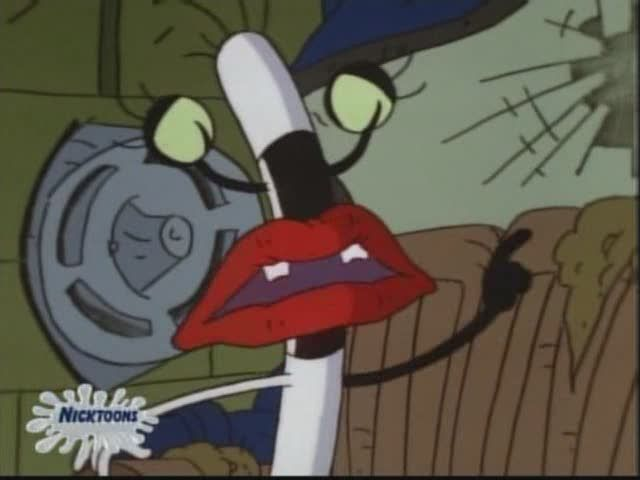 "On ""Aaahh!!! Real Monsters,"" Oblina was able to give nightmares to humans by doing what?"