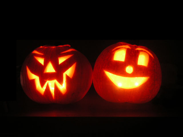 What were the first Jack-o-Lanterns made out of?