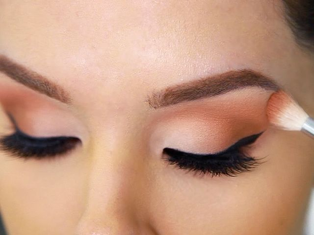 This is Eyeshadow! People use eyeshadow on their eyelids to make their eyes more noticeable, using an almost unending variety of colors and methods.