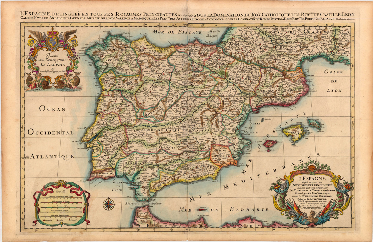 Historical Maps Of Spain Ireland Map - Spain historical map