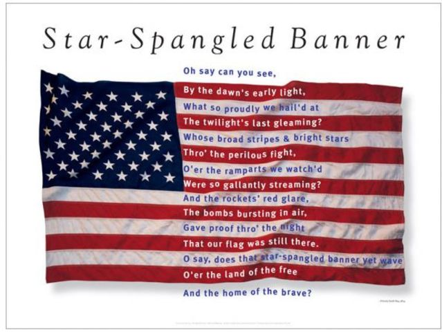 the national anthem by francis scott In 1931, congress passed a bill to make the star-spangled banner the official national anthem of the united states but the decision was far from simple among the points of contention was the .