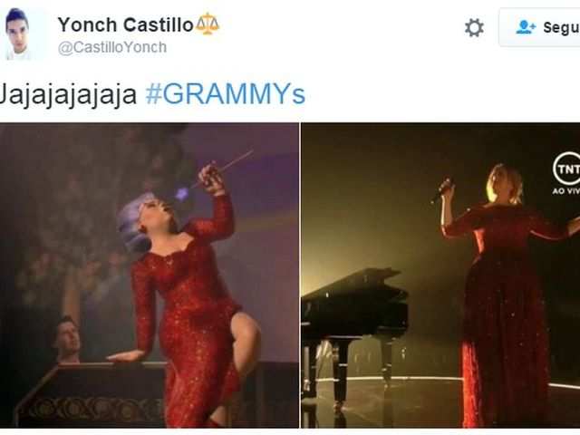 Aunque Adele estaba preciosa, no se salvó de los memes...