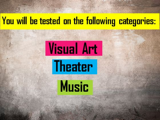 Art Quiz : You will pass this test only if majored in creative arts