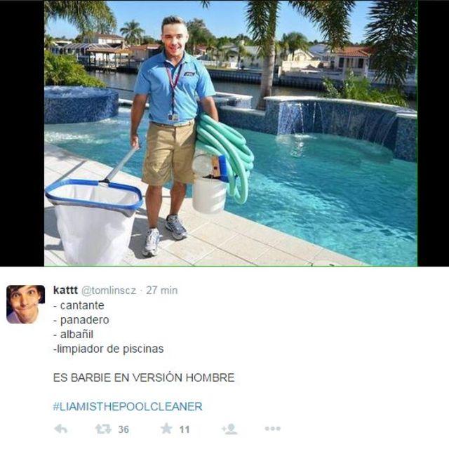 Los memes de liam como limpiador de piscinas playbuzz for Limpiador fondo piscina