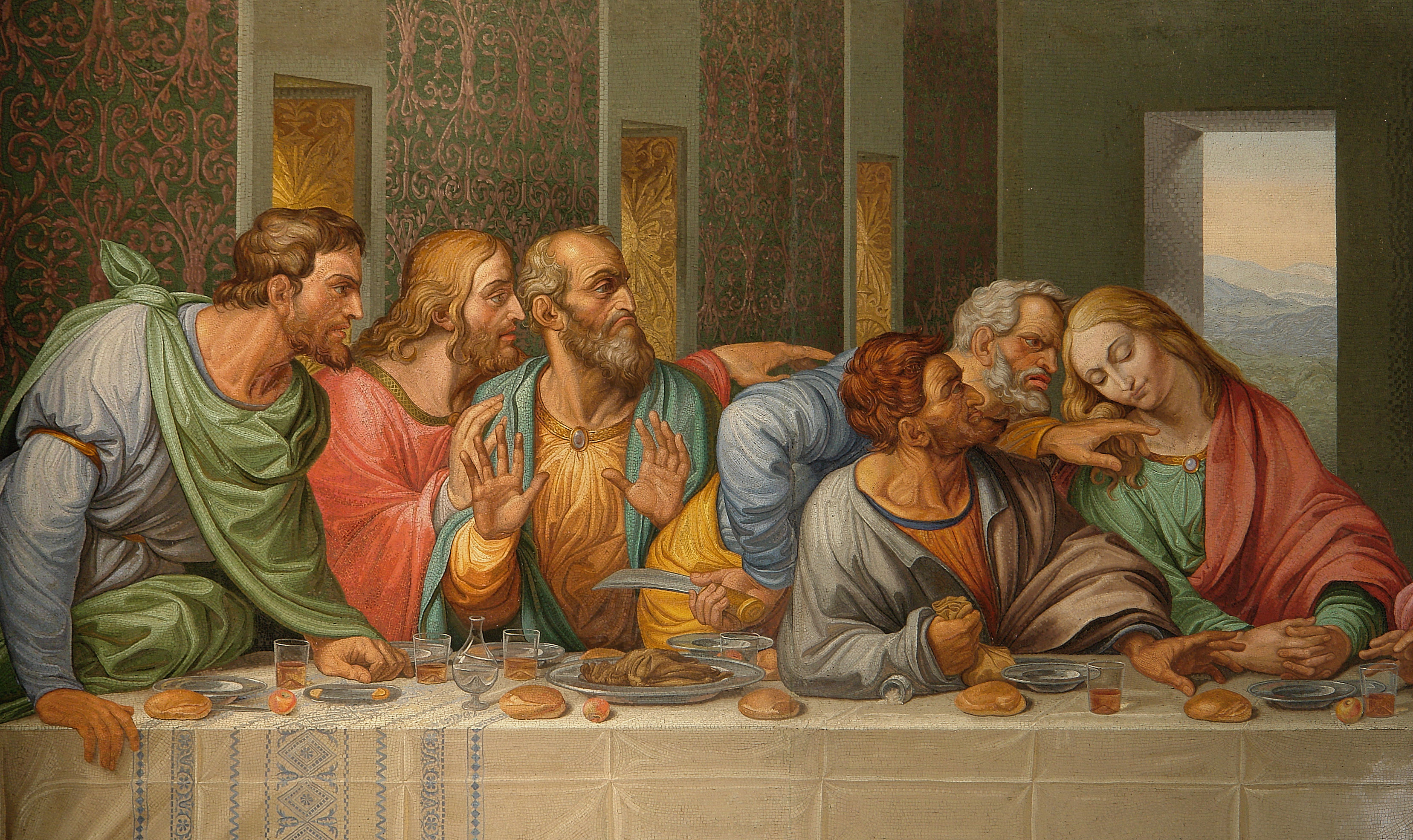 From   The Last Supper...