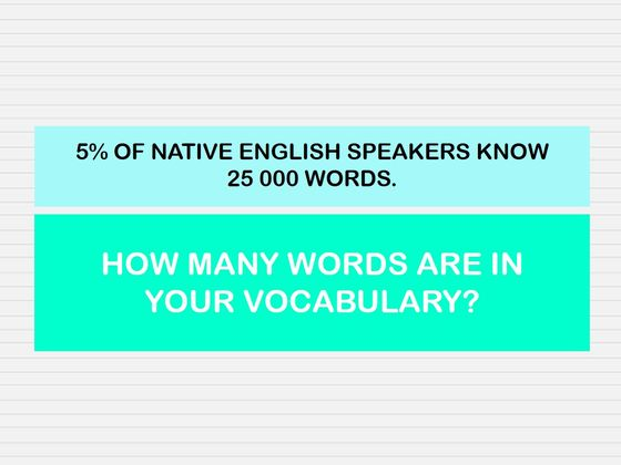 Only 5% Of Native English Speakers Have This Size Vocabulary!
