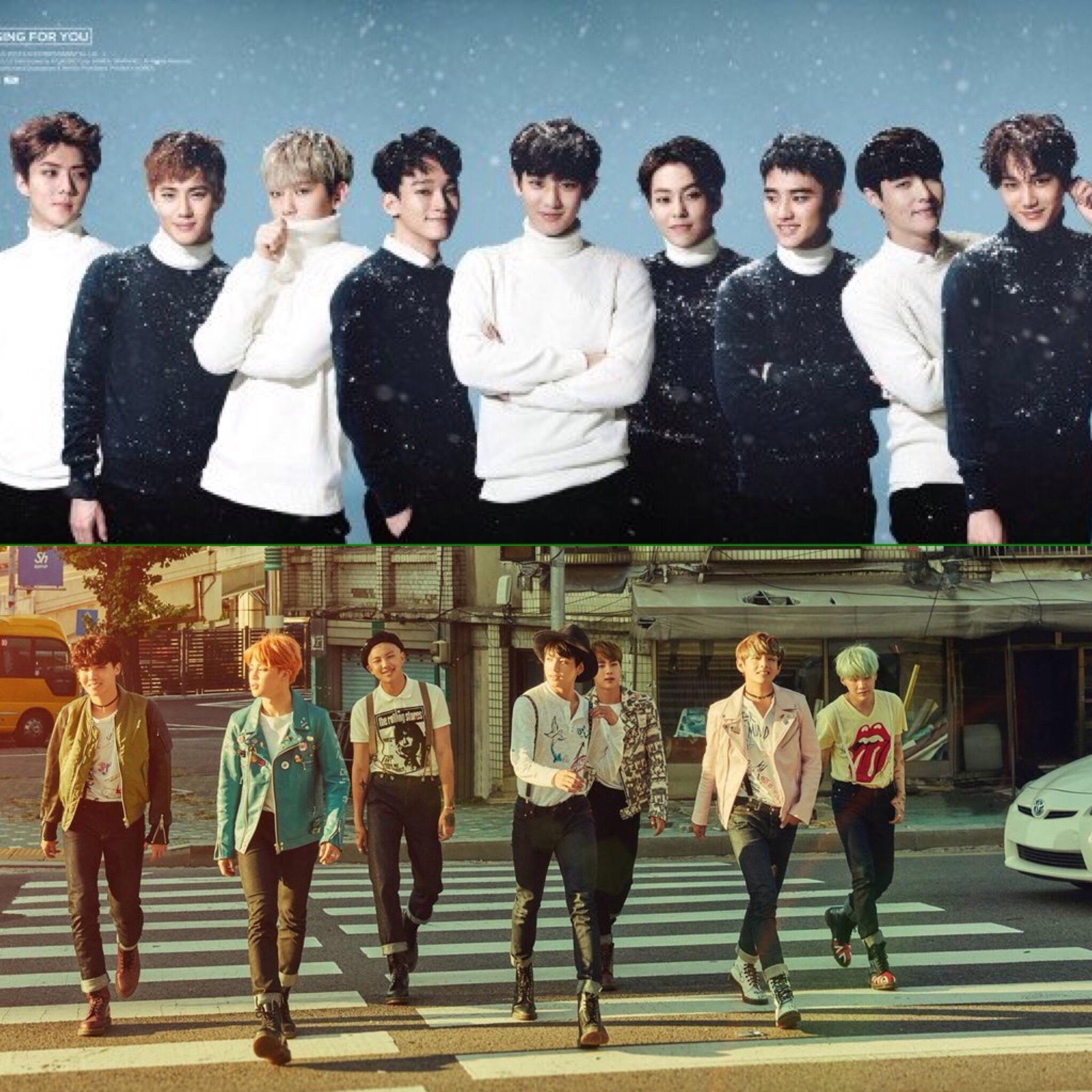 EXO y BTS van a colaborar juntos para una nueva canción