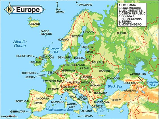 Which European Country Are You Playbuzz - Map of europe and russia physical