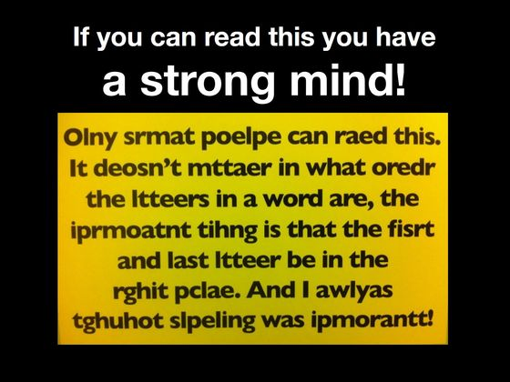 If You Can Read This You May Be A Potential Genius