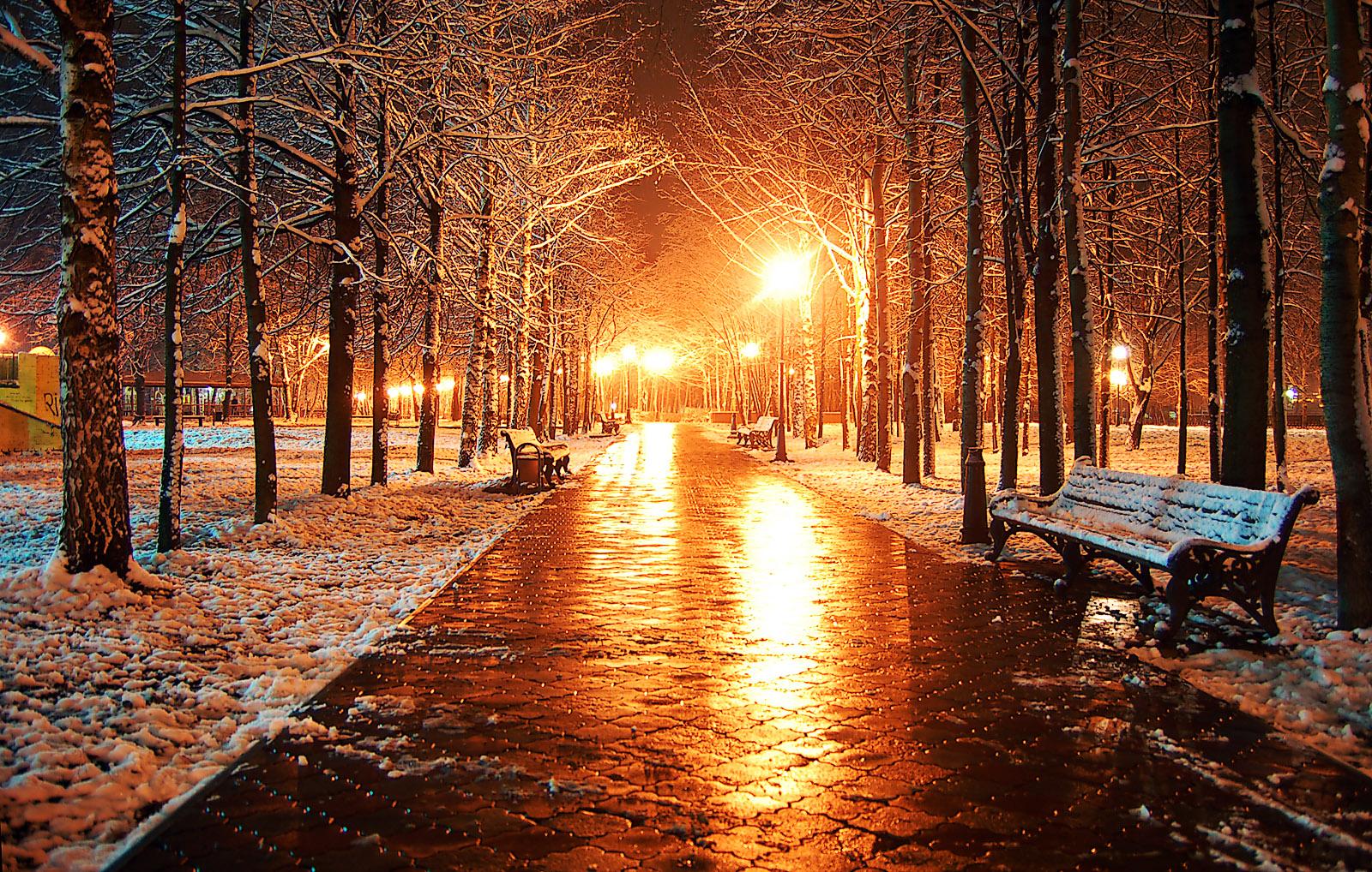 вышивка схема город первый снег