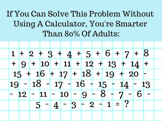 8/10 Adults Can\'t Work Through These Insanely Long Math Problems ...
