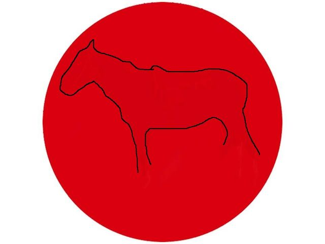 the red dot eye test with the outline of a horse