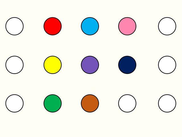 Какова точность вашего глазомера? - Точка какого цвета находится ровно в центре?