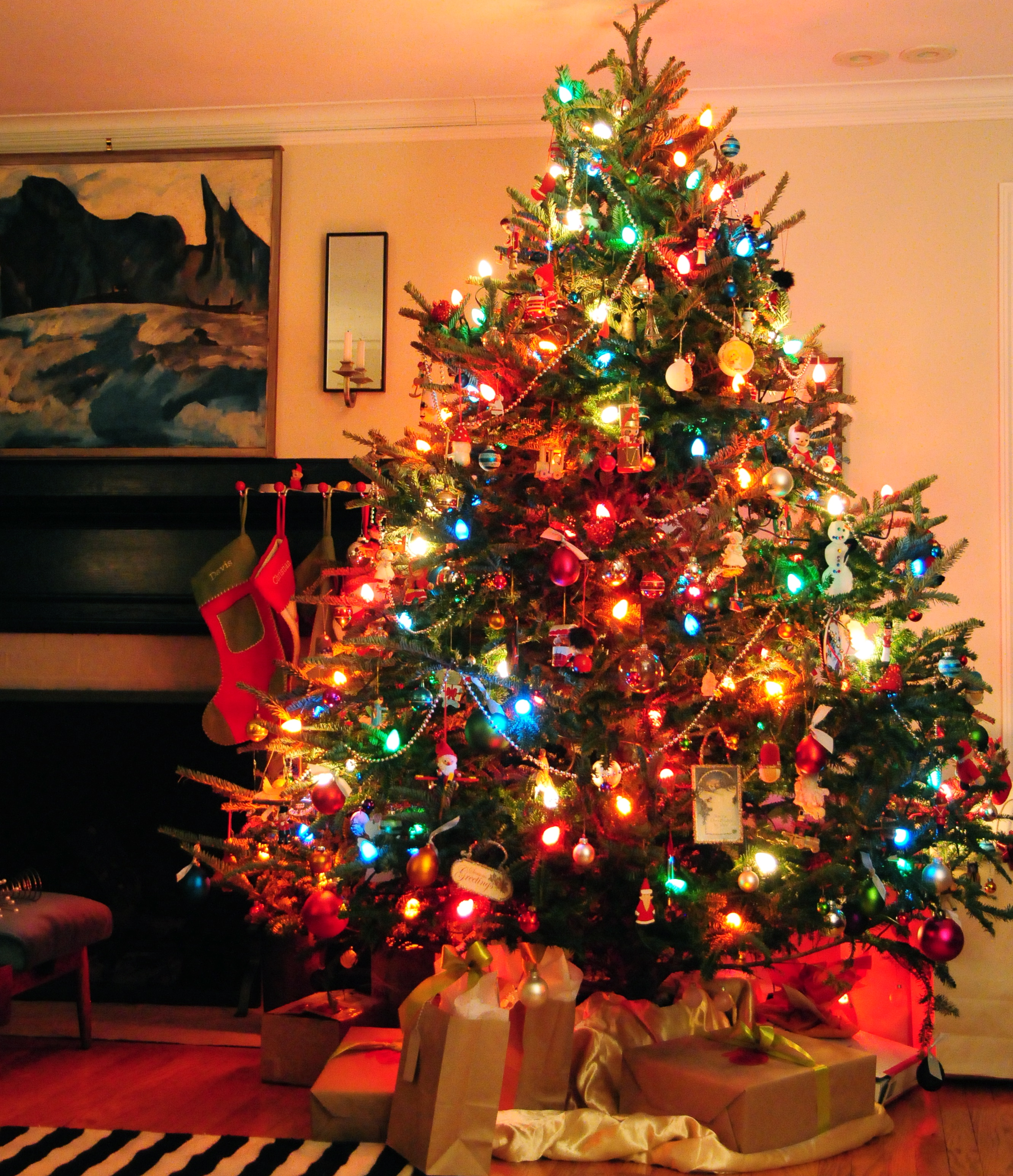 Old School Christmas Tree Christmas Decore