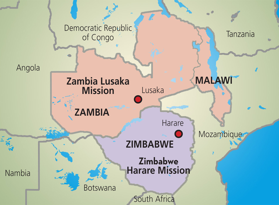 AFRICA FORMER RHODESIA Now Zambia And Zimbabwe Or Referred To - Republic of zimbabwe map