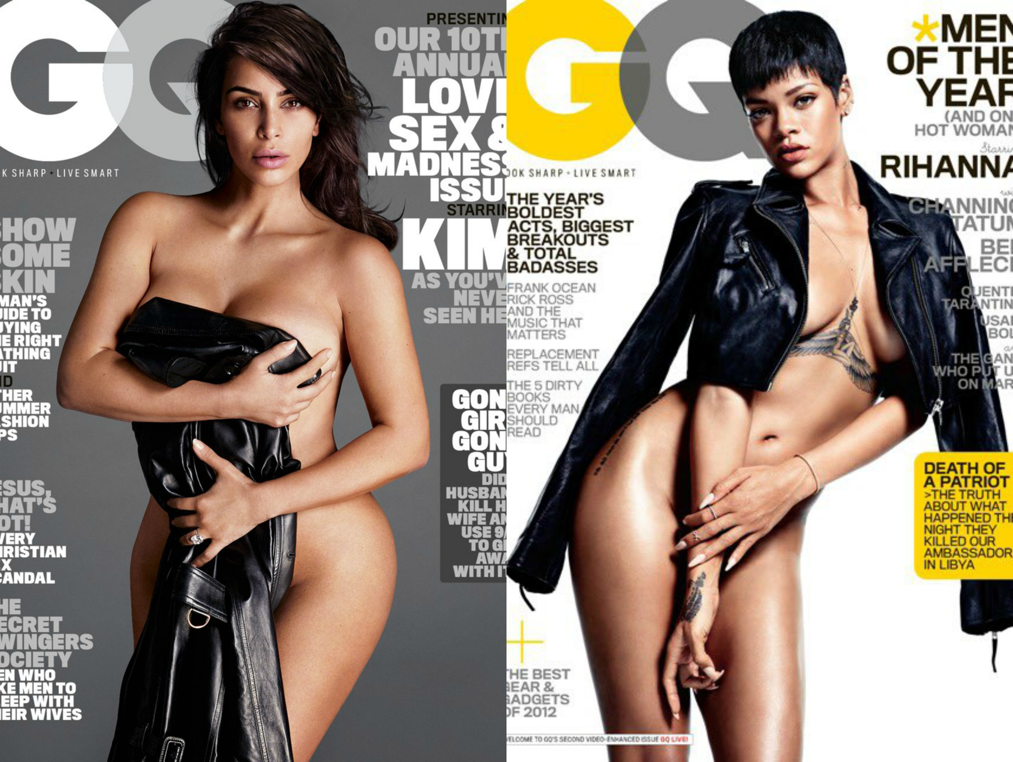 nude pic cover Rihanna gq