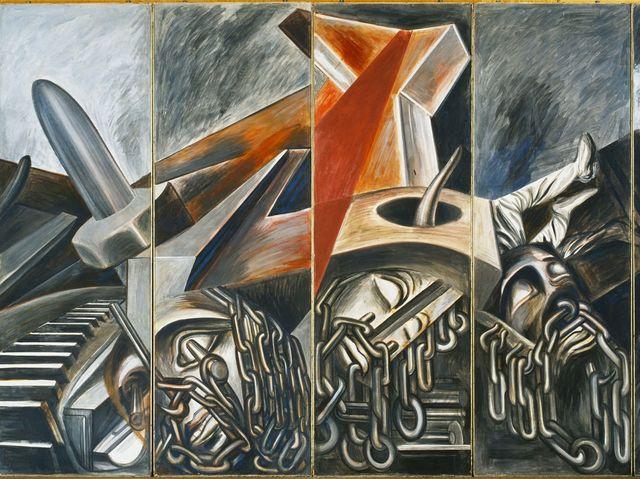 10 obras de arte para recordar a jos clemente orozco for Arte colectivo mural