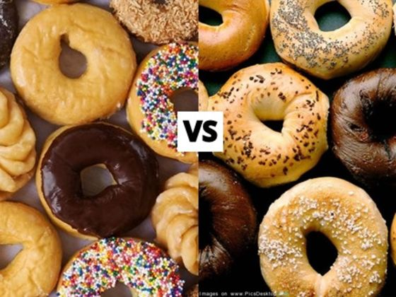 Image result for donuts vs bagels