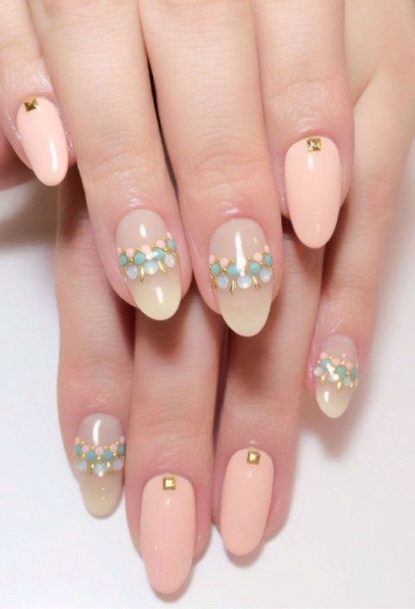 21 Beautiful Bridal Nail Art Design Ideas | Playbuzz