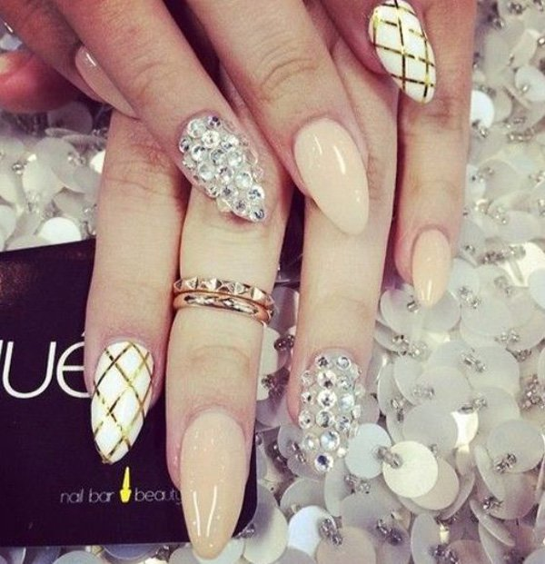 21 Beautiful Bridal Nail Art Design Ideas