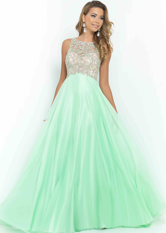 High neck prom dress cheap