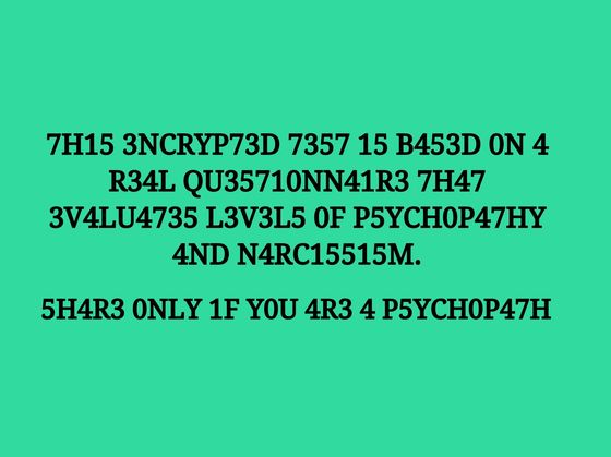 Can You Pass A REAL 10-Question Psychopath Test?
