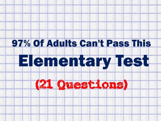97% Of Adults Can't Pass This Elementary Test, Can You?
