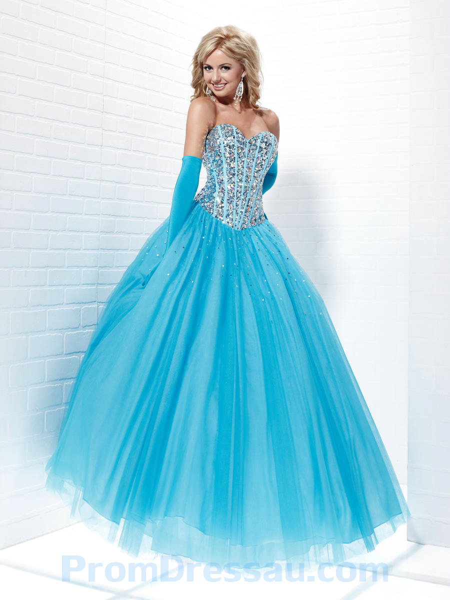 Beautiful Light Blue Puffy Prom Dresses | Dress images