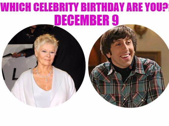 December 9 - Famous Birthdays - On This Day