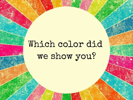 You Have A Photographic Memory If You Can Remember The Exact Shade Of Each Of The Colors We Show You!