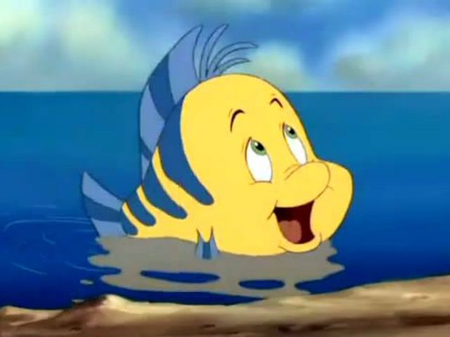 Flounder is one of the most loyal sidekicks and always up for fun!