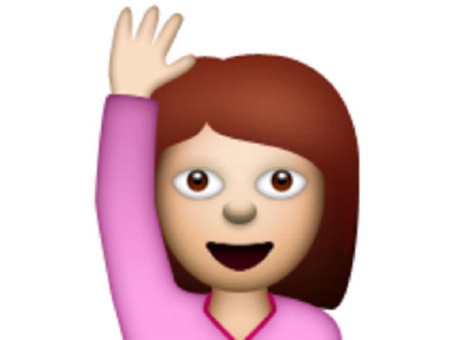 Resultado de imagem para emoji levanta a mão