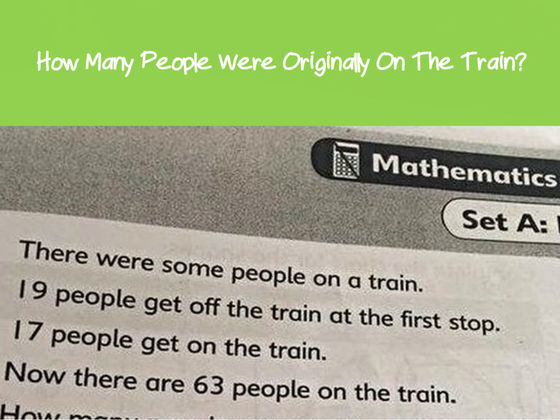 This Math Question Designed For Six-Year-Olds Has Parents Stumped! Can You Solve It?